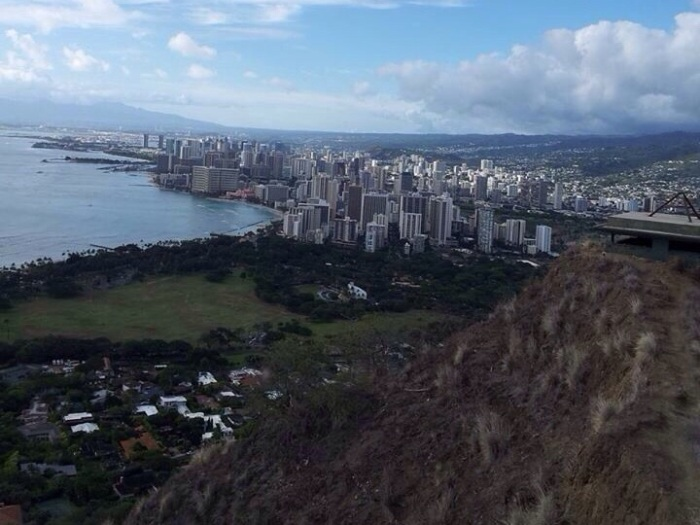 View from Diamond Head Summit