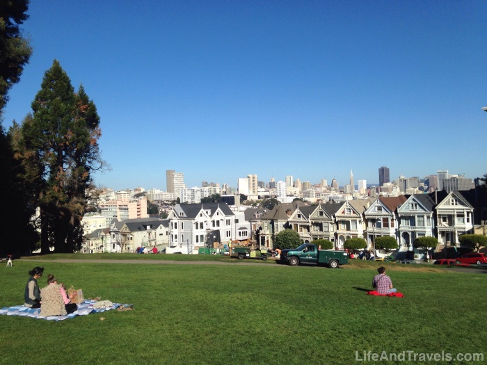 Alamo Square and The Painted Ladies