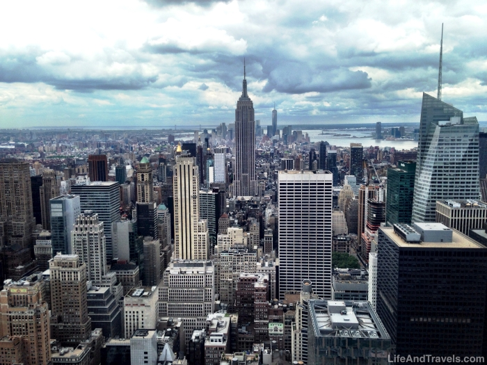 View of Lower Manhattan from the GE Building